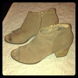 Sole society suede open toe booties 10.5/11